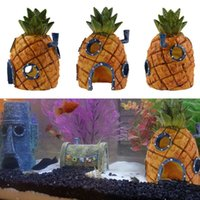 Wholesale home aquarium for sale - Penn Plax Squidward Easter Island Home Ornament Small Inch Pineapple House Aquarium Ornament from Penn Plax Durable Resin Safe for All F