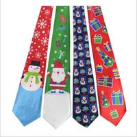 ingrosso cravatte di natale dei ragazzi-26 design christmas Tie Accessori per feste Ragazzi Creativi Tie di Natale Decorazione festa da ballo cravatta KKA5875