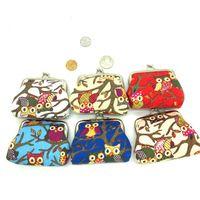 Wholesale kids owl purses - Owls faux leather Purse kids Hasp Clutch Bag baby child Mini Change Wallet Girl Coin Purse