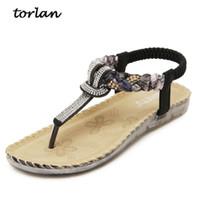Wholesale women c thong - Summer Sandals Women T-strap Flip Flops Thong Sandals Designer Elastic Band Ladies Gladiator Sandal Shoes Zapatos Mujer