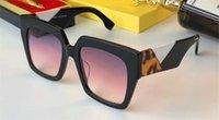 cajas simples al por mayor-Nuevas gafas de sol de las mujeres del diseñador de moda 0263 marco cuadrado estilo de venta popular simple gafas de protección uv400 de la calidad superior con la caja original