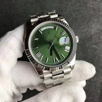 Wholesale Auto Sweep - New Rome mens watch automatic movement sapphire glass green face Stainess original strap hot sale Sweep Mechanics watch mens wristwatch