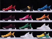 Wholesale Clear Plastic Shoe Boxes - Hot Sale Men Women Casual Shoes Unisex Originals Lightweight Boots Pharrell Williams X NERD Classic Hu Trail NERD Shoes With Box 36-48