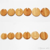 Wholesale wooden fashion accessories for sale - Group buy Wooden Fashion Glass Cans Cup Cover Coffee Mug Lids Anti Dust Drinkware Lid Kitchenware Accessory Good Quality xm dd