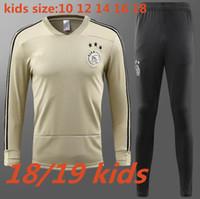 Wholesale quality boys - thai quality 2018 2019 ajax Soccer training suit kids kits 18 19 sweater HUNTELAAR ZIYECH DOLBERG NOURI KLUIVERT soccer youth tracksuit