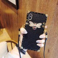 7 'lenovo tablette achat en gros de-Personnalité de la marque de luxe américain téléphone couverture arrière pour iPhone6s 8 lan XU XS MAX 7plus téléphone lanière en cuir femelle