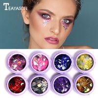 Wholesale loose nails online - TEAYASON Glitter Eyeshadow Powder Makeup Gold Silver Nail Art Sequins Varnish Decoration Tips Flash Loose Eyeshadow