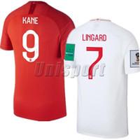 ingiltere futbol formaları toptan satış-Dünya Kupası 2018 England Futbol Formaları Kane Sterling Vardy Futbol Camisa Futbol Camisetas Gömlek Kiti Maillot
