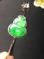 pulseira myanmar venda por atacado-Belas Jóias Real 18 K Rose Gold Natural jade burma pulseira jadite naturelle jonc myanmar jade pulseira certificado
