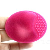 Wholesale spa facial brush resale online - Facial Exfoliating Brush Infant Baby Soft Silicone Wash Face Cleaning Pad Skin SPA Bath Scrub Cleaner Tool