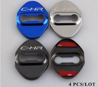 puertas de toyota corolla al por mayor-Cubierta de la cerradura de la puerta del coche Estuche de diseño de auto excelente para Toyota CHR Corolla Avensis C-HR 2016 2017 Camry Hilux Car-Styling