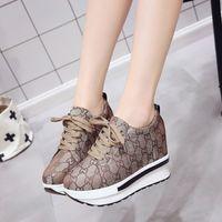 0d989624 Rebajas wedge heeled sneakers - Tacones altos otoño Wedge Sneaker marca zapatillas  mujeres Plataforma de aumento