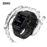 silikon tasche armband großhandel-Wasserdichtes Silikon-Bügel-Band-Kasten 42mm / 38mm Sport Iwatch-Reihe 3 2 Handgelenk-Band-Uhrenarmbänder + Schutzabdeckung