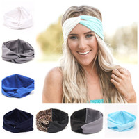 Wholesale women hair accessories - Women Girls Fashion Bohemia Headband Hair Ribbons Hairband Patchwork Color Hair Accessories Elastic Headwrap Colors NNA348