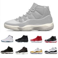 Wholesale cooler orange - Platinum Tint Cap and Gown 11 Prom Night 11s XI Basketball Shoes Gym Red PRM Heiress men women Cool Grey sports Sneaker