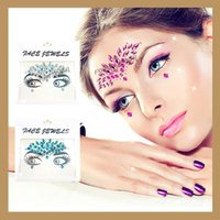 Wholesale sticker eyebrows - New Arrival Music Festival Pasters For Women Eyebrows Face Crystal Tattoo Sticker Eco Friendly Stickers For Wedding Decorations 4 5yj B