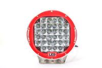 spot suv toptan satış-96 W LED için 9 inç 9 inç LED KıRMıZı Sürüş Spot İş Işık 4WD Offroad VS Hid 100 W açık bar aydınlatabiliriz parlak SUV araba ışık