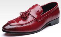 sapatos casuais para homens venda por atacado-Mens dress shoes crocodilo grão loafer tamanho grande homens sapatos de trabalho elegante mens design exclusivo sapato casual sapatos de condução para homens zy10