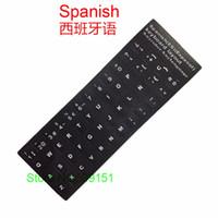 notebook spanisch großhandel-100 STÜCKE Universal Spanisch Tastatur Aufkleber Matte Haut Buchstaben Tastatur Aufkleber Schutzfolie 10 - 17 zoll Notebook Laptop