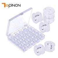 Wholesale bobbin holders - 25 Slots Make Up Organizer Sewing Bobbin Jewelry Box Diamond Painting Accessories Cosmetic Organizer Plastic Storage Box Holder