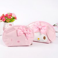 c9d45c0b44d7 6pcs Cute Cartoon Pink Hello Kitty Portable PU Cosmetic Bag for Girls Money bags  Birthday Party Favors Wholesale