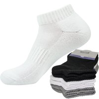 erkekler sığ ağız çorabı toptan satış-3 Pairs Erkekler Kadınlar Tüm Havlu Terry Kış Sıcak Ayak Bileği Çorap Pamuk Kısa Görünmez Kalın Çorap Sığ Ağız No Show Meias
