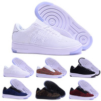 ingrosso forzare le scarpe basse-nike air force 1 one flyknit Moda Uomo Scarpe Low One 1 Uomo Donna Cina Casual Scarpe Fly Designer Royaums Tipo Breathe Skate knit Femme Homme 36-45