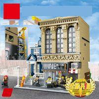 lepin blocks Australia - New 2841Pcs Legoing Creator Lepin 15035 City Series The Bars And Financial Companies Building Blocks Bricks Educational Toys kid