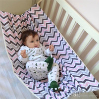 Wholesale folding baby crib portable - Safety Baby Swing cotton Hammock Infant Removabl Bed Sleeping Bed Detachable Portable Folding Baby Bouncer Infant Crib for Newborn BH121
