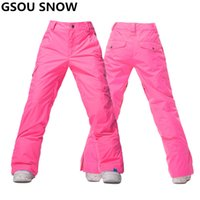 Wholesale Thermal Outdoor Pants Women - Wholesale- Gsou Snow Winter Snowboard Pant women waterproof thermal Ski Pant Snow Trousers outdoor skiing and snowboarding ski trousers