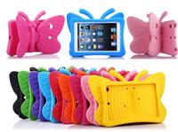 ipad air mini fall für kinder großhandel-Kinder Butterfly ShockProof Heavy EVA Hülle für iPad 2/3/4/5 Mini 1/2/3 Air