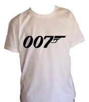 baby bindung großhandel-fm10 t-shirt baby / a 007 james bindung 2 casino royal logo film CINEMATV100% baumwolle tee shirtts großhandel tee