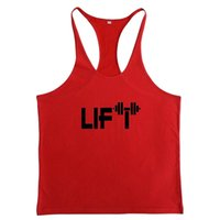 Wholesale Body Building Tanks - New 2018 Lift printing Body building Stringer Gym Tank Top
