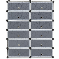 Wholesale Flooring Products - Best Choice Products 12 Cube Shoe Storage Cabinet Organizer DIY Shoe Rack