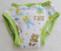 ingrosso bello bambino amanti-Pantalone da allenamento con orso adorabile stampato / pannolino in tessuto abdl / amante / mutande per pannolini per bambini adulti