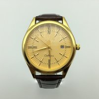 Wholesale brown man casual watch classic for sale - Group buy Classic top quality ATM men geneve brand AAA leather quartz watch fashion casual auto date analog men dress watch men s gift saat