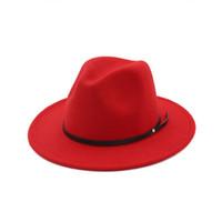 beanies de crianças amarelas venda por atacado-Meninas de lã sentiu chapéu estilo Inglaterra crianças jazz chapéu moda meninas princesa chapéus de festa crianças fedora 11 cores crianças bonés de aba larga