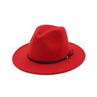 fedora kız toptan satış-Yün kız şapka keçe İngiltere tarzı çocuklar caz şapka moda kızlar prenses parti şapkaları çocuk fötr 11 renkler çocuklar geniş ağız kapaklar