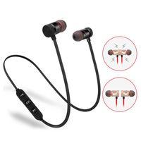 correr mp3 al por mayor-Auriculares Bluetooth magnéticos Auriculares inalámbricos para correr BT 4.1 con micrófono Auriculares ergonómicos MP3 para iPhone Samsung Smartphones