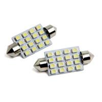 10X C5W 1210 16 LED 31mm 36mm 39mm 41mm Festoon Dome LED Light Bulbs 16 SMD Car Door Light Dome Roof Light Mix Size