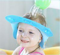 Wholesale Shower Caps For Babies - Wholesale high quality Safe Shampoo Shower Bathing Protect Soft Cap Hat for Baby & Kids Bath Tools & Accessories Children shower cap 0210005
