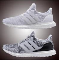 Wholesale eva floor - 2018 Ultra Running Shoes 4.0 triple white black grey Men Women UB 3.0 Blue Oreo casual Shoes Sports Sneakers 36-45