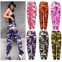 ingrosso camuffamento sport di moda-donne casual zaooye pantaloni Ladies Fashion camouflage Camo pantaloni lunghi Womens sport sciolto vendita calda Pantaloni PT6-7240
