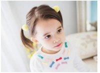Wholesale Headbands Hair Nets - 10pcs Net Yarn Ball Girls Small Lovely Solid Hairclip Kids Hairpins Hair Accessory Gift For Little Girls HD687