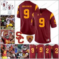 xxl fußball trikot 43 großhandel-USC-Trojaner # 9 JuJu Smith-Schuster 2 Adoree 'Jackson 94 Leonard Williams 43 Troy Polamalu Rot Weiß NCAA College-Fußballtrikot S-3XL