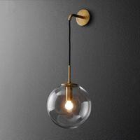 led toplu duvar lambası toptan satış-İskandinav Modern LED Duvar Lambası Cam Top Amerikan Retro Duvar Işık Aplik Wandlamp Aplik Murale