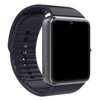 смартфоны с большим экраном оптовых-Классический Bluetooth Smart Watch мужчины GT08 с сенсорным экраном большая батарея Sim-карты камеры для IOS iPhone Android телефон