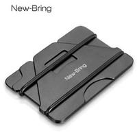 кошелек владельца кредитной карты оптовых-NewBring несколько функция металла кредитной карты держатель черный карманный коробка визитные карточки ID бумажник с RFID Анти-Вор бумажник мужчины