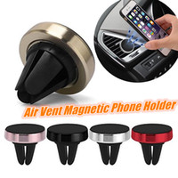 Wholesale universal smartphone holder online – Air Vent Magnetic Mount Smartphone Stand Metal Magnet Holder with Reinforced Magnetic No Effect GPS Car Holder For Samsung S8 Iphone