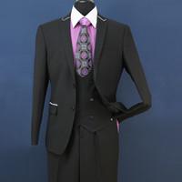 Wholesale tailcoat grey - 2018 New Slim Fit Groom Tuxedos Groomsmen Light Grey Side Vent Wedding Best Man Suit Men's Suits 3 Pieces (Jacket+Vest+Pants) ST008
